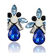Pendientes colgantes Gema La imitación de diamante Legierung Estilo Simple Gota Azul Rosa Joyas Fiesta Casual 1 par