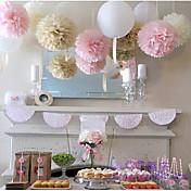 パールペーパー 環境に優しい素材 結婚式の装飾-15Piece /セット 春 夏 秋 冬 カスタマイズ可