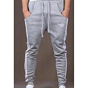 Rovné / Harémové Kalhoty chinos / Tepláky Muži Kalhoty-Jednobarevné Běžné/Denní Jednoduchý Mid Rise Šňůrky Bavlna MikroelastickéPružina /
