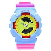 CAGARNY Mujer Reloj Deportivo Reloj de Moda Reloj de Pulsera Reloj digital Cuarzo DigitalLED Calendario Cronógrafo Resistente al Agua