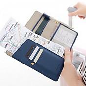 1 pieza Monedero de Viaje Billetera y Cartera Impermeable A prueba de polvo Portable para Almacenamiento para Viaje Cuero Sintético-