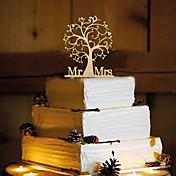 ケーキトッパー 非パーソナライズ モノグラム 樹脂 結婚式 イエロー 蝶テーマ 1 OPP