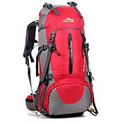 50 L バックパッキング用バックパック サイクリングバックパック バックパック 登山 レジャースポーツ サイクリング/バイク キャンピング&ハイキング 防水 高通気性 耐衝撃性の