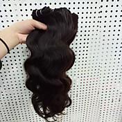 Cabello humano Cabello Brasileño Tejidos Humanos Cabello Ondulado Grande Extensiones de cabello 3 Piezas Negro