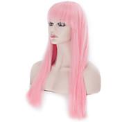60 cmlightピンクのかつらファッション長いロリータストレートヘア女性コスプレパーティー衣装アニメウィッグ