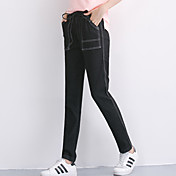 Mujer Sencillo Tiro Medio Micro-elástica Vaqueros Pantalones,Pantalones Harén Un Color