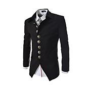 男性 お出かけ 春 ブレザー,ヴィンテージ シャツカラー ソリッド レッド ブラック グレイ その他 長袖