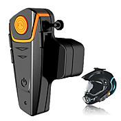 Bt-s2 1000m de la motocicleta a2dp bluetooth intercomunicador inalámbrico impermeable auricular auriculares mp3 fm radio casco auriculares