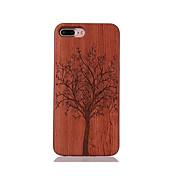 Para Antigolpes En Relieve Diseños Funda Cubierta Trasera Funda Árbol Dura Madera para AppleiPhone 7 Plus iPhone 7 iPhone 6s Plus/6 Plus