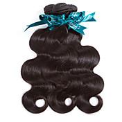 人間の髪編む ペルービアンヘア ウェーブ 12ヶ月 3個 ヘア織り