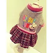 犬用品 コート スウェットシャツ ドレス 犬用ウェア キュート カジュアル/普段着 スポーツ ブリティッシュ ベージュ グレー