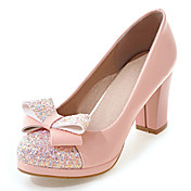 Mujer Tacones Zapatos del club Semicuero Primavera Verano Otoño Invierno Boda Vestido Fiesta y Noche Zapatos del clubPajarita Lentejuela