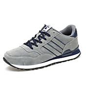 Muškarci Atletičarke tenisice Proljeće Jesen Udobne cipele PU Ležeran Ravna potpetica Vezanje Svjetlo siva Tamno plava Hodanje