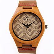 男性 女性用 ファッションウォッチ 腕時計 ウッド クォーツ / ウッド バンド カジュアルスーツ ブラウン