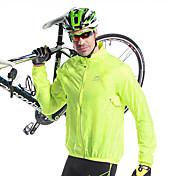 Mysenlan サイクリングジャケット 男性用 バイク ジャケット トップス 保温 速乾性 防風 抗紫外線 防雨 エラステイン 竹炭素繊維 ゼブラプリント キャンピング&ハイキング 釣り レジャースポーツ バドミントン サイクリング/バイク 春 夏 秋 ライトグリーン