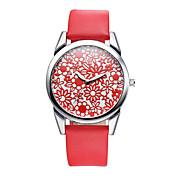 V6 Mujer Reloj de Moda Reloj Casual Cuarzo / PU Banda Casual Negro Marrón Blanco Negro Amarillo Naranja rojo Rojo