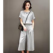 2017春と夏の新しいミス漢の禁止スリム気質カジュアルなツーピースのスーツワイドレッグパンツファッション