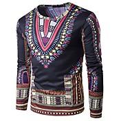 カジュアル/普段着 Tシャツ,シンプル ハートカット プリント コットン 長袖