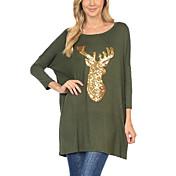 袖プリントTシャツ緩いバットスリーブT鹿ヨーロッパとアメリカのクリスマスでのAliexpressのアマゾンの貿易