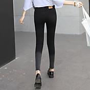 2017年春韓国のハイウエストのジーンズ女性の足9学生スリムストレッチ鉛筆のズボンの潮勾配