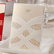 Envuelve y Guarda Invitaciones De Boda 50-Tarjetas de invitación Estilo clásico Papel de Perla