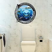 動物 カートゥン ロマンティック ウォールステッカー 3D ウォールステッカー 飾りウォールステッカー トイレステッカー,ペーパー 材料 ホームデコレーション ウォールステッカー・壁用シール