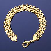男性用 女性 チェーン&リンクブレスレット 銅 18K 金 ファッション ビンテージ ボヘミアスタイル 幾何学形 ゴールド ジュエリー 1個