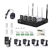 escam® wnk403 plug and play bežični NVR komplet P2P 720p HD vanjski ir noćni vid sigurnosti IP kamera, WiFi sustav