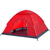 OSEAGLE 2人 テント シングル キャンプテント 自動テント 防湿 通気性 防水 防風 抗紫外線 防雨 2000-3000 mm のために 狩猟 ハイキング 釣り ビーチ キャンピング 旅行 屋外 屋内-240*200*120 cm 1つのルーム