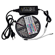 5m 300led SMD poder 6a oferta controlador 12v rgb 5050 RGB LED Strip flexível 44keys impermeáveis ​​ir