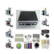 basekey tatuaje kit máquina K226 6 máquinas con agarres de suministro de energía de limpieza de tinta agujas del cepillo