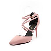 Mujer Tacones Confort PU Primavera Confort Tacón Stiletto Negro Gris Verde Rosa 10 - 12 cms