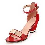 Mujer Sandalias Zapatos del club Semicuero Primavera Verano Otoño Casual Vestido Fiesta y Noche Zapatos del club Cremallera Punta Metálica
