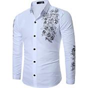 MajicaJednostavno Ležerno/za svaki dan Rad Plus veličine Jednobojni Color block Vez-Dugih rukava Kragna košulje-Proljeće JesenPlava