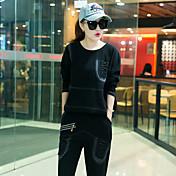 緩い2の2017年秋の新ファッション人格のカウボーイのスーツのスポーツの女性の秋の韓国語バージョン