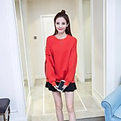 冬の女性に署名'ソリッドカラーの文字のセーターの女性の緩い長袖ラウンドネックTシャツヘッジのsの新しい韓国の学生の流入