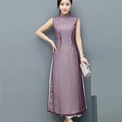 オードリー実際のショット夏の新しい改善チャイナドレス中国風の女性' sのドレススリム薄いスカートの文学