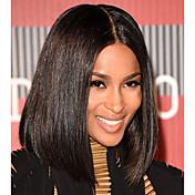 新しい到着ボブ人間の髪のレースのフロントウィッグベビー髪の黒の女性のためのブラジルの処女の髪