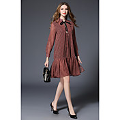 長袖のドレス緩い気質で-2017春の新しいハイエンドヨーロッパやアメリカのレトロなプリントドレスの女性