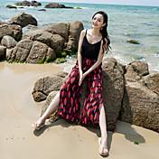 Tiro real mujer verano playa pantalones culottes verano vacaciones lado división pantalón ancho pantalones nacional viento flor pantalones