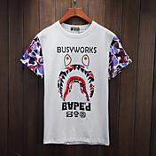 Ocio coreano salvaje suelta de manga corta camiseta