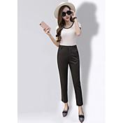 サイン夏ストレートルーズワイドレッグパンツスーツパンツは薄いパンティーストッキング女性の足カジュアルパンツは、ハーレムパンツ