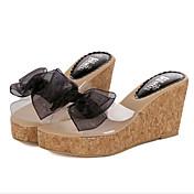 Mujer Tacones Sandalias Suelas con luz PU Primavera Invierno Informal Blanco Negro 5 - 7 cms
