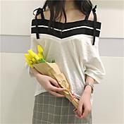 サイン気質小さな新鮮なヒットカラーの襟緩い綿のシャツの気質ピース袖プルオーバーシャツの女性