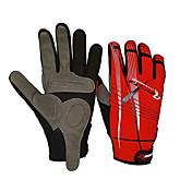 手袋 バイク 防風 防滑り 男女兼用 レッド ブラック コットン ナイロン
