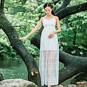sesión tirantes falda de 2017 del resorte nuevas costuras de tocar fondo falda de gasa falda de la cintura de hadas