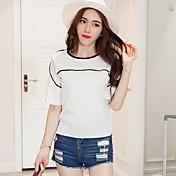 2017夏の新しい韓国のファッション気質ホーンスリーブラウンドネックシフォンシャツの小さなシャツ