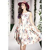 2015 primavera nuevas mujeres europeas y americanas de gama alta&# 39; vestido de s era vestido vestido tutu delgado