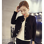 私は新しい襟のシャツスリムスエードのジャケット短いパラグラフカーディガン野球ユニフォーム薄いコートの女性