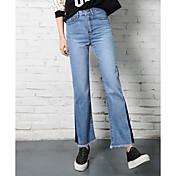 Signo hechizo de color alta cintura pantalones vaqueros hembra pantyhose flash retro delgado era jeans rectos finos golpeó el color
